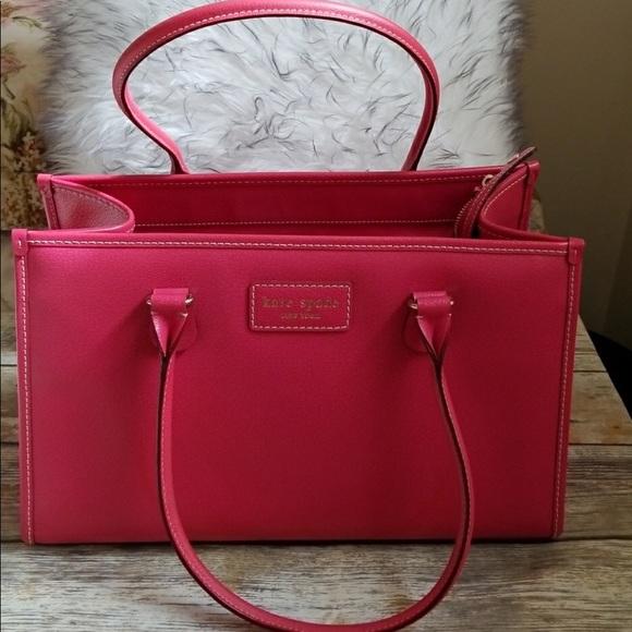 kate spade bags gigantic pink leather bag poshmark
